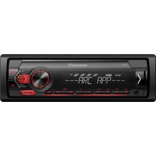 Pioneer MVH-S120UB USB/AUX Mechanika nélküli fejegység, piros + 3 év garanciával!