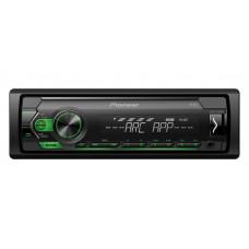 Pioneer MVH-S120UBG USB/AUX Mechanika nélküli fejegység, zöld + 3 év garanciával!